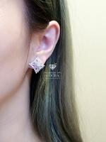 พร้อมส่ง ~ Diamond earring งานติดหูเพชรปาเกตอย่างดี