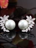 พร้อมส่ง ~ Earring Pearl By A~Dora Brand