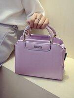 กระเป๋าแฟชั่นสตรี พร้อมสายสะพายยาว สีม่วง เมทัลลิค