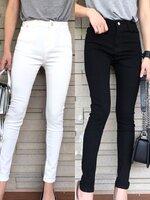 กางเกงแฟชั่น กางเกงยีนส์ขายาว เอวสูง เนื้อผ้ายีนส์อย่างดี ผ้านิ่มมาก