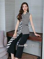 ชุดเซทแฟชั่น ชุดเซ็ทเสื้อ+เข็มขัด+กางเกงงานเกาหลี