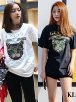 เสื้อแฟชั่น T-Shirt Dresses Gucci ลายแมว งานสกรีนสุดฮิต