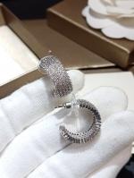 พร้อมส่ง ~ diamond circle Earring ต่างหูทรงเพชรครึ่งวง Classicที่สุด