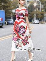 เดรสแฟชั่น ชุด Maxi Dress ปัก งานแบรนด์ดังรันเวย์ ผ้าเนื้อดีหนานุ่มมีน้ำหนัก