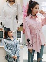 เสื้อแฟชั่น รุ่นบีเชิ้ต งานผ้าคอตตอนเชิ้ต 100% งานผ้าเกรดเอ