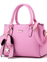 กระเป๋าแฟชั่น หนังPUอย่างดี แบรนด์แท้ฮ่องกง สีมพู +แถมฟรี Twilly พันหูกระเป๋า