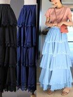 กางเกงแฟชั่น กางเกงขาบานยาวตัดเย็บด้วยผ้าชีฟอง มี 4 สี