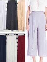 กางเกงแฟชั่น Chiffon Pleated Side Pants มี 6 สี