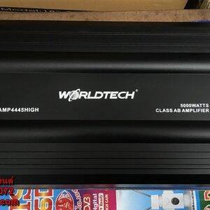 เพาเวอร์แอมป์รถยนต์ 4 CH ยี้ห้อ WORLDTECH