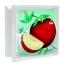 บล็อคแก้ว ลาย แอปเปิ้ล ช้างแก้ว (ก้อนเดี่ยว) thumbnail 1