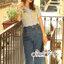 ชุดเซทแฟชั่น งานเซ็ทสวยเก๋ลุคสาววินเทจ ดีเทลเสื้อเนื้อผ้าคอตตอล thumbnail 6