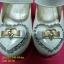 15F1249 White รองเท้าเด็กผู้หญิง หนังแก้วสีขาว ส้นเตี้ย ใส่ไปงาน แต่งงานเลี้ยง ไซส์26-30 thumbnail 4