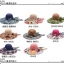 Pre-order หมวกปีกกว้างแฟชั่นฤดูร้อน กันแดด กันแสงยูวี สวยหวานเรียบหรู ดูดี สีชมพูบานเย็น thumbnail 3