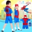 ( For Kids ) Swimsuit for Boy ชุดว่ายน้ำ เด็กผู้ชาย Spiderman บอดี้สูท กางเกงขาสั้น มาพร้อมหมวกว่ายน้ำและถุงผ้า สุดเท่ห์ ใส่สบาย ลิขสิทธิ์แท้ thumbnail 1