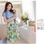 ลดล้างสต็อก พร้อมส่ง ชุดเดรสยีนส์ผสม เสื้อยีนส์ กระโปรงชีฟองพิมพ์ลายดอกไม้โทนเขียว สไตล์คาวบอย แฟชั้นสไตล์เกาหลี thumbnail 4
