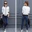 (พร้อมส่ง) เสื้อแจ็คเก็ตสีคลาสสิคสไตล์เกาหลี มีสีขาว/ดำ thumbnail 17