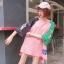 [พร้อมส่ง] เสื้อยืดตัวหลวมแนวสตรีทสไตล์เกาหลีสีชมพูหวานแขน 7 ส่วน thumbnail 8