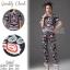 ชุดเซทแฟชั่น เซ็ตเสื้อ+กางเกงใส่เข้าชุดกัน เนื้อผ้า polyester+silk พิมพ์ลายดอกไม้สวยทั้งตัว thumbnail 7
