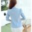เสื้อสูทเบลเซอร์ มีซับในอย่างดี รุ่น R8028 สีฟ้า thumbnail 6