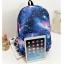 [พร้อมส่ง] กระเป๋าเป้ลายกาแล็คซี่ สีน้ำเงิน thumbnail 3