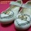 15F1249 White รองเท้าเด็กผู้หญิง หนังแก้วสีขาว ส้นเตี้ย ใส่ไปงาน แต่งงานเลี้ยง ไซส์26-30 thumbnail 3