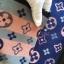 พร้อมส่ง ~ ผ้าพันคอ Lv Logomania scarf ทอลาย monogram pattern thumbnail 6