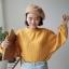 [พร้อมส่ง] เสื้อแขนค้างคาวคอกลม มีสีเหลือง/ขาว thumbnail 4