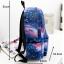 [พร้อมส่ง] กระเป๋าเป้ลายกาแล็คซี่ สีน้ำเงิน thumbnail 2