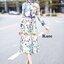 เดรสแฟชั่น Dress ลายน่ารัก สีหวาน แขนยาว คอปก thumbnail 1