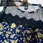 เสื้อแฟชั่นผ้าชีฟองเนื้อทรายหนา ตัดต่อลุกไม้และซีทรูหน้าอก ลายดอกสีน้ำเงิน thumbnail 10