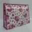 กระเป๋าเครื่องสำอางค์ นารายา ผ้าคอตตอน ทรงสี่เหลี่ยมผืนผ้า พื้นสีขาว ลายดอกกุหลาบ สีชมพู เป็นชุด 3 ชิ้น Size L,M,S (กระเป๋านารายา กระเป๋าผ้า NaRaYa) thumbnail 6