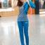 [พร้อมส่ง] ชุดเสื้อออกกำลังกาย Set 3 ชิ้น มีสีชมพู/เทา/ฟ้า (เสื้อแขนกุดมีฮูด+กางเกงขายาว+เสื้อคลุม) thumbnail 18