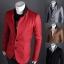 Pre-Order เสื้อสูท สูทลำลอง สูทบาง สูทเบลเซอร์ลำลอง แขนยาว ผ้าฝ้ายผสม สีแดง thumbnail 1