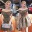 เดรสแฟชั่น Mini Dress เดรสดิ้นทอง สลับ ดำ เนื้อผ้ายืดๆหน่อย เข้ารูปช่วงเอว thumbnail 5