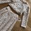 ชุดเซทแฟชั่น เซ็ตเสื้อแขนยาวทรงคร็อปและกระโปรงยาวผ้าลูกไม้สีครีม thumbnail 17