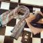 พร้อมส่ง ~ ผ้าพันคอ Lv Logomania scarf ทอลาย monogram pattern thumbnail 1