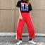 [Preorder] กางเกงขายาวมีซิปผ่าเปิดข้างโชว์ขา มีสีดำ/แดง thumbnail 11