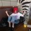 [พร้อมส่ง] เสื้อแขนสั้นมีฮูดแดงสไตล์เกาหลี มีสีขาว thumbnail 16