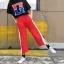 [Preorder] กางเกงขายาวมีซิปผ่าเปิดข้างโชว์ขา มีสีดำ/แดง thumbnail 9