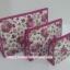 กระเป๋าเครื่องสำอางค์ นารายา ผ้าคอตตอน ทรงสี่เหลี่ยมผืนผ้า พื้นสีขาว ลายดอกกุหลาบ สีชมพู เป็นชุด 3 ชิ้น Size L,M,S (กระเป๋านารายา กระเป๋าผ้า NaRaYa) thumbnail 1