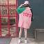 [พร้อมส่ง] เสื้อยืดตัวหลวมแนวสตรีทสไตล์เกาหลีสีชมพูหวานแขน 7 ส่วน thumbnail 10