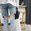[Preorder] กางเกงยีนส์ขายาวมีรูขาด thumbnail 13