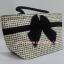 กระเป๋าถือ นารายา Size M ผ้าคอตตอน ลายชิโนริ ผูกโบว์ สีดำ สายหิ้ว หูเกลียว (กระเป๋านารายา กระเป๋าผ้า NaRaYa กระเป๋าแฟชั่น) thumbnail 1