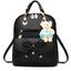 กระเป๋าเป้พวงกุญแจหมี หนัง PU ปรับสายให้สะพายไหล่ สะพายข้างได้ สีดำหน้าโบว์ thumbnail 1