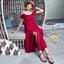 เดรสแฟชั่น เดรสผ้าชีฟองเกาหลี เนื้อจะหนากว่าชีฟองปกติ มีน้ำหนักทิ้งตัวสวย thumbnail 14