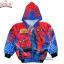 """"""" ( S-M-L-XL """" เสื้อแจ็คเก็ต Spiderman เสื้อกันหนาว เด็กผู้ชาย สีน้ำเงิน รูดซิป มีหมวก(ฮู้ด) ใส่คลุมกันหนาว กันแดด สุดเท่ห์ ใส่สบาย ลิขสิทธิ์แท้ (ไซส์ S-M-L-XL ) thumbnail 8"""