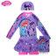 (size XL)Swimsuit for Girls ชุดว่ายน้ำ เด็กผู้หญิง My Little Pony บอดี้สูท เสื้อแขนยาวกระโปรงกางเกง สีม่วง มาพร้อมหมวกว่ายน้ำและถุงผ้า สุดน่ารัก ใส่สบาย ลิขสิทธิ์ฮาสโบแท้ โพนี่แท้(สำหรับเด็กอายุ 9-10 ปี)