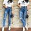 กางเกงแฟชั่น กางเกงยีนส์ทรงบอยเฟรน รุ่นใหม่ล่าสุด ทรงเอวสูง ฟอกสีสวย thumbnail 12