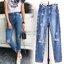 กางเกงแฟชั่น กางเกงยีนส์ทรงบอยเฟรน รุ่นใหม่ล่าสุด ทรงเอวสูง ฟอกสีสวย thumbnail 9