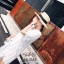 เดรสแฟชั่น เดรสสีขาวคอวี ผ้ามุ้งแต่งขนแบบเส้นๆ ในตัว thumbnail 8